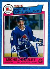 1983-84 O-Pee-Chee Highlights MICHEL GOULET (Signed) ex-mt (Quebec)