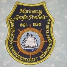 """Marinezug """"Große Freiheit"""" Patch - Germany - 3"""" x 3 7/8"""""""