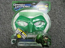GREEN LANTERN HAL JORDAN MASK & POWER RING LITES UP 2011 PROP COSTUME