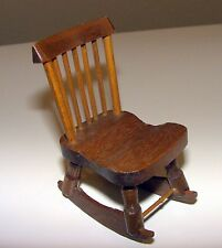 "Wooden Dollhouse Rocking Chair - Armless - 3 1/2"" Tall"