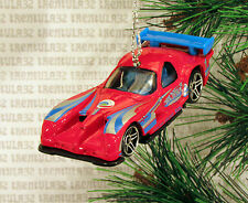 PANOZ GTR-1 RACE CAR RED BLUE RACING CHRISTMAS ORNAMENT XMAS