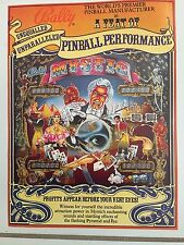 """""""MYSTIC"""" PINBALL PROMO BROCHURE 1980 GREAT CONDITION-IN PLASTIC COVER-BALLY"""