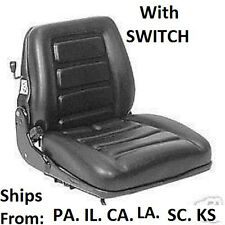 SUSPENSION FORKLIFT SEAT w Switch. CLARK, TOYOTA, YALE