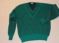 TB0071 März München Herren Woll Strick Pullover Grün Schwarz Wolle 48TOP
