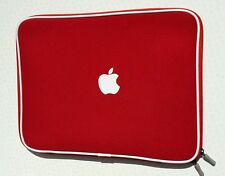 "SOFT Sleeve Carry Bag Case Cover-Apple 15 ""Pollici Macbook Pro O Aria-Rosso"