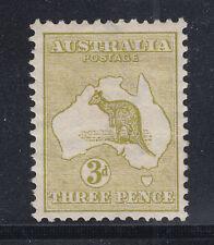 Australia Sc 5 MLH. 1913 3p Kangaroo, wide Crown & wide A watermark, Die 1 F-VF