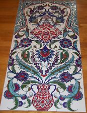 "Defective 24""x48"" Iznik Floral & Vase Handpainted Ceramic Tile PANEL Mural"