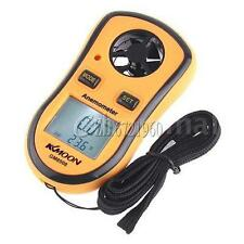 Mini Digital Wind Speed Gauge Meter Anemometer Thermometer NTC C/F LCD Display