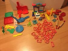 Play Doh Lot Pizza Breakfast Pet Hair Shop Letters Extruder More!