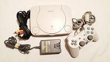 SONY PLAYSTATION ONE PSOne SCPH-101 Slim PS1 w/ 1 Controller 1 Game: Spider-Man