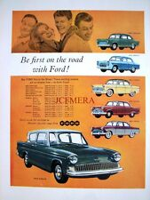 1959 Ford 'Anglia' & Range of Cars Advert #1 - Original Auto Print Ad