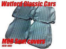 MGB Roadster and GT Pair of Seat Covers 1970 -1981 Leather look All Black