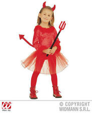 Childrens Devil Girl Halloween Fancy Dress Costume Outfit 3-4 Yrs