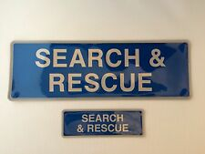 Encapsulated SEARCH and RESCUE reflective badge SET 300mm (style 1)