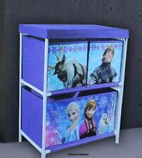 Disney Frozen Childrens Kids Drawer Books Toys Storage Box Organizer Unit Large