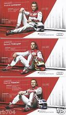 2014 24 Hours of Le Mans WINNERS  Set of 3 Audi R18  E-tron Hero Cards