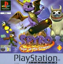 Spyro Year of the Dragon PS1/Video/Game/Playstation/Platinum/Manual/Used/Eggs