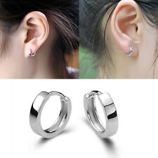 Fashion Jewelry Men Women 925 Sterling Silver Ear Stud Hoop Earrings