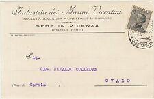 VICENZA - INDUSTRIA DEI MARMI VICENTINI 1928 X OVARO