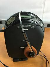 Panasonic Mash XBS Portable CD Player SL-S160 With Sanyo Headphones.