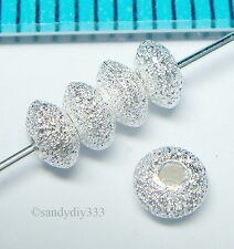 100x STERLING SILVER STARDUST SAUCER BEAD 3.5mm 1.8mm SPACER N639A
