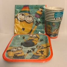 New Minions Birthday Party Supplies Bundle Kit Including Plates, Cups, Napkins
