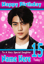 SEHUN EXO KPOP, A5 Personalised Birthday Card Any Name / Age, l@@k FABULOUS!!! 1