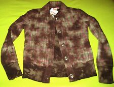 Roxy Jacket Coat Bleachers Fleece Jac Olive Snap Small S Women's Girl's Junior's