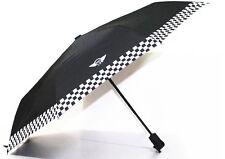 BMW Mini Cooper Portable Automatic Folding Umbrella Umbrellas Checkered Style