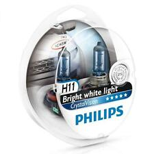 PHILIPS H11 Crystal Vision 4300K Bulbs 12362CVSM + Parking Lights **H8 H9**