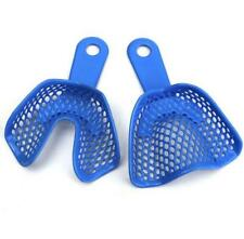 1 Pair 2PCs Plastic-Steel Dental Impression Trays Denture Model Materials New