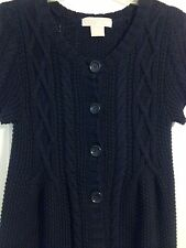 Michael Kors Knitted Sweater Short Sleeve Dark Navy S/P
