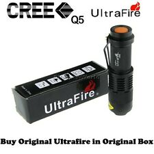 Pocket LED Mini CREE XR-E Q5 UltraFire Flashlight Torch Adjustable Zoom Beam S