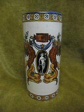 vase rouleau faience gien renaissance blanc (cachet 1875) hauteur 12,5cm