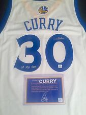 Stephen Curry Signed Golden State Warriors Jersey Authenticated Inscriptions