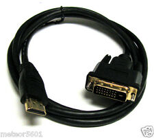 New 10FT 10' FT HDMI To DVI (24+1) 25 pin Cable Cord For HDTV PC Moitor LCD
