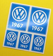 VW 1967 VOLKSWAGEN Year Date stickers INSIDE GLASS BEETLE SPLIT SCREEN CAMPER