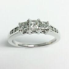 0.50 ctw DIAMOND Engagement RING 14k White Gold VS2/G ZALES PAST PRESENT FUTURE
