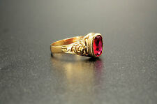 14K Gold Vintage Solitaire Ruby Ring