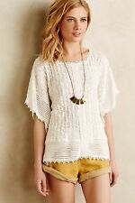 NWT Anthropologie Eula Lace Poncho BY Meadow Rue (Size M/L - Ivory)