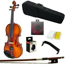 Paititi 3/4 Size Artist-200 Serie Solid Wood Ebony Fitted Violin with Bow Case
