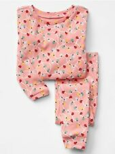 GAP Baby Girls Size 6-12 Months Pink Festive Christmas Lights Pajama PJ Set