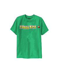 Flappy Bird Graphic Tee Boys Small Green