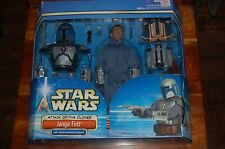 """Jango Fett 12"""" Deluxe Set-Star Wars Attack of the Clones-New 1/6th Scale"""