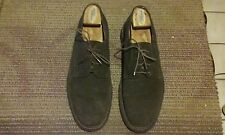 HAROLD POWELL MEN SUEDE SHOES SIZE 10.5 M  MADE IN SPAIN LACE DESIGNER OXFORDS