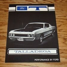 1969 Ford Torino Talladega Facts Features Sales Folder Brochure 69