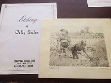 "Original Willy Seiler Etching ""Rice Harvest"" - From Occupied Japan"
