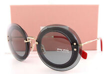 Brand New Miu Miu Sunglasses MU 10R 10RS U6D3C2 Tansparent Grey For  Women