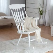 "Gift Mark Adult Rocking Chair White Finish 3800W Chair 32.25"" x 22"" x 44"" NEW"