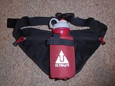 ULTIMATE Black/Red RUNNING WAIST BAG Fanny Water Bottle Pack Gym Hiking NICE!